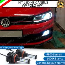 KIT LED H8 6000K CANBUS XENON 9800 LM LUMEN FENDINEBBIA VOLKSWAGEN POLO AW1