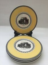 VILLEROY AND BOCH AUDUN CHASSE X 4 SIDE PLATES