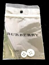 BURBERRY Authentic White Shirt Button Set - New in Package