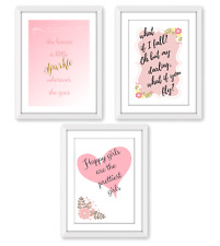 Inspirational Quote Posters for Girls - A4 Wall Prints Wall Art
