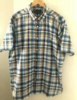 Blazer Men's Size XXL Classic Fit Multi-coloured Short Sleeve Easy Iron Shirt