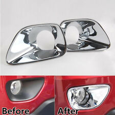 2x Triple Chrome Plated Fog Lamp Light Trim Cover for Jeep Grand Cherokee 11-13