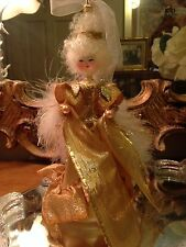 """Christopher Radko Gold Mademoiselle Marie 1998 10"""" Made in Italy"""
