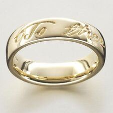Escocés Ola Gorie Robert Burns Boda Anillo Scottish 9 Ct Oro Amarillo 375