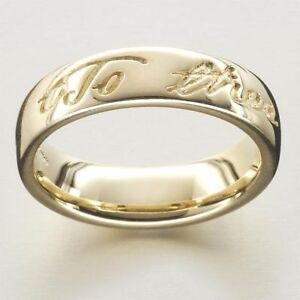Scottish Ola Gorie Robert Burns Wedding Ring Scottish 9ct Yellow Gold 375