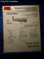 Sony Service Manual SLV SE230 SX737 SE430 SE630 SE730 SE737 SE830 SX730 (#4763)