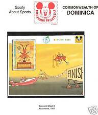 DOMINICA # 1502 MNH DISNEY GOOFY ABOUT SPORTS