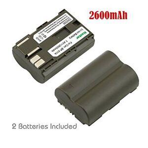 2x Kastar Battery for Canon BP-511 PowerShot G1 G2 G3 G5 G6 Pro 1 Pro 90 IS