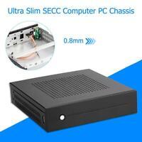 Mini-ITX Case Ultra Slim SECC Desktop Computer PC Chassis Support Wall Mount