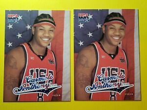 Carmelo Anthony RC LOT 2003-04 Fleer USA Rookie Card RC HOF Olympics