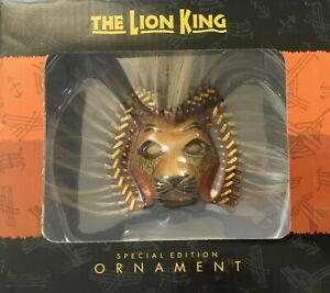 The Lion King Broadway Musical Special Edition Simba Mask Ornament Open Box