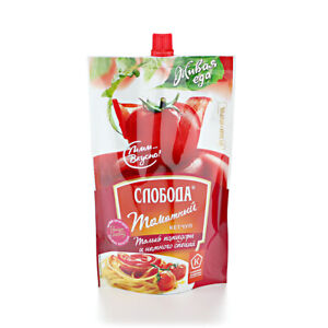 KETCHUP TOMATO, made Russia, 350g, made from ripe natural tomatoes