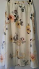 New Per Una M&S Ivory Mix Floral Size 10UK/EUR 38 Long  Maxi Skirt