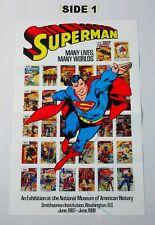 Vintage Superman poster! 1980's DC Action Comics 17x11 museum cover art poster 1