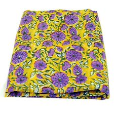 Indian Hand Block Floral Print Cotton Voile Fabric 10 Yard Craft Sewing Material
