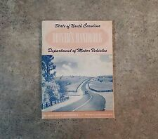 1952 State Of North Carolina Department Of Motor Vehicles Driver's Handbook