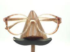 Vintage Airco 787 Transparent Brown Round Horn Rimmed Sunglasses Frames USA