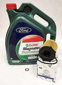 GENUINE FORD 1.5L TDCi Oil Filter & Oil 5L 0W30 Fiesta Focus B C Max Ka Mondeo