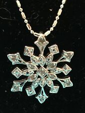 Snowflake Necklace 9.5 Inch Chain (AD)
