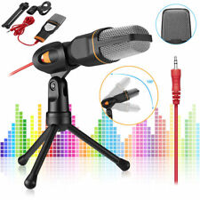 Conderser Microphone Mic with Stand Tripod Audio Recording For Computer Pc Phone