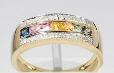 Ä4032 Ring 585er Gelbgold Diamant Multi-Saphir 0,94ct RW20