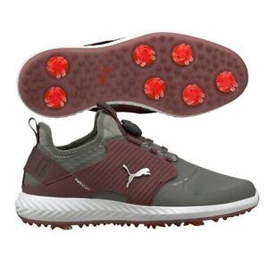 Puma Mens Ignite PWRadapt Caged Disc Golf Shoes 192236 Grey/Zinfandel - NEW 2021
