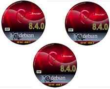 """Debian """"Jessie"""" 8.6.0 Linux O/S 3 DVD set with over 37,000 packages - 32 bit"""