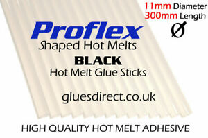 11, 11.2 & 12mm x 300mm BLACK HIGH QUALITY Hot Melt Glue Gun Glue Sticks - CHEAP