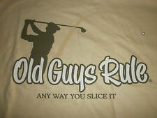 "Old Guys Rule "" Any Way You Slice It "" Golf Clubs Bag Balls Irons S/S L"