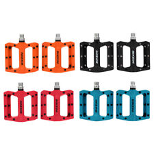 Clip-less Bike Pedals MTB Mountain Bicycle Pedal & Integrated Traction Pad