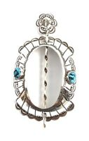 Native American Sterling Silver Navajo Handmade Turqouise Hair Barrett