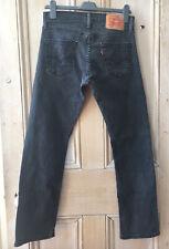 Levis Jeans 514 W29 L30 Negro para Hombre Ajustada tramo recto