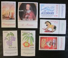 Lot 7 timbres Monaco 2002 neuf ** - Luxe