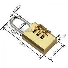 Hot 3 Digit Dial Combination Suitcase Luggage Metal Code Password Lock Padlock