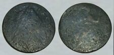 ☆ VERY CRUDE !! ☆ King George III Colonial Copper Coin ☆ ODD PORTRAIT