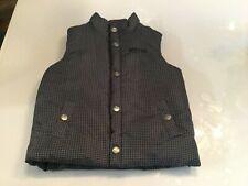 Toddler KENNETH COLE REACTION Snap Up Grey Black Puffer Vest -Size 4
