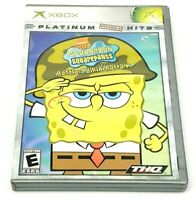 SpongeBob SquarePants Battle for Bikini Bottom (Microsoft Xbox, 2003) Complete!