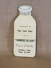 Rare Unique Vintage Dairy Advertising w/ Complimentary Sharps Leechburg PA