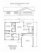 1109 square foot three bedroom house plan