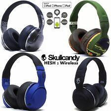 New Skullcandy Hesh 2 Bluetooth 4.0 Wireless Headphones Headset Blue Camo White