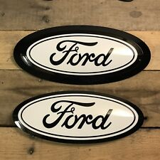 17-19 Lariat F250 F350 F450 Custom Ford Oval Set w/ Large Tailgate Oval option