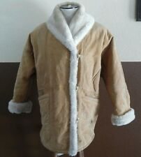 J. Percy for Marvin Richards Leather Faux Fur lined Jacket Womens Sz M