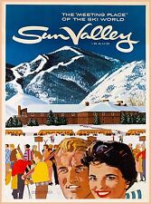 Ski World Sun Valley Idaho United States Vintage Travel Advertisement Poster