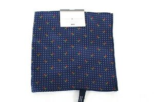 Tommy Hilfiger Men's Flower Pin Dot Blue Pocket Square Retail