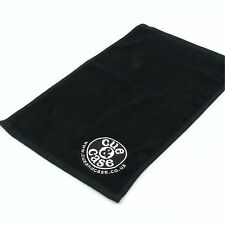 CUE & CASE Snooker and Pool Black Cotton Cue Towel - 50cm x 30cm