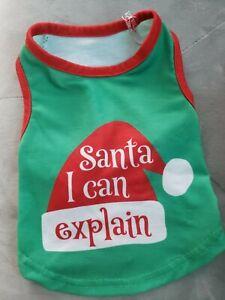 NEW Santa I can explain Christmas Pet Dog Puppy Pajama shirt (xS) so cute!