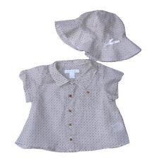 Marie Chantal 100% algodón endeble Lightweigh Top + Sol Sombrero 3 meses nuevo con etiquetas SP £ 68