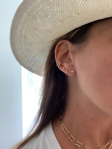 Beautiful Diamond Ear Cuff / Gorgeous Ear Cuff  14k Gold