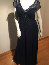 NWT Sexy Size 16 Dress For Women Navy Color Long With Sequence Design