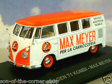 DIECAST 1/43 ITALIAN VAN COLLECTION VW VOLKSWAGEN T1 KOMBI MAX MEYER PAINTS 1959